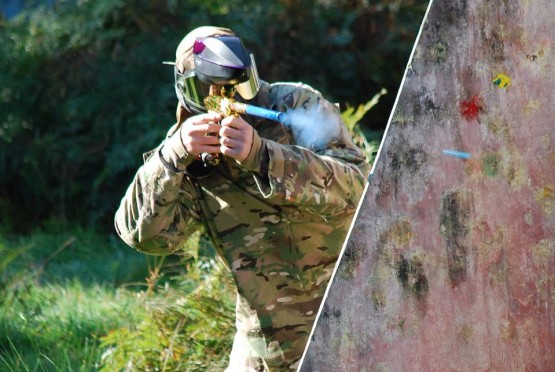 Paintball Action Shot