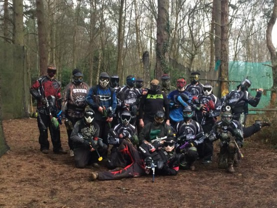 Pro Paintball Pose