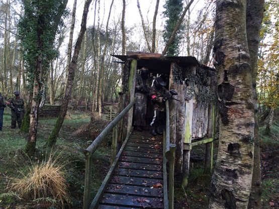 Paintball hut in the woods