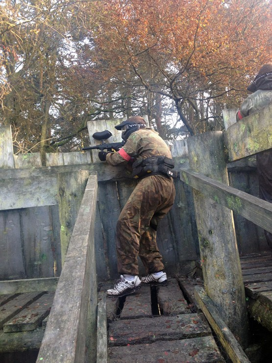 Paintballer in the fort